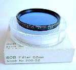 52mm Asanuma 80B Camera Lens Filter