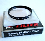 52mm Prinz Skylight Camera Lens Filter