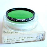 58mm Asanuma Green X1 Camera Lens Filter
