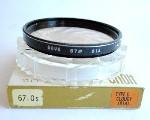 67mm Hoya Type D Cloudy (81A) Camera Lens Filter