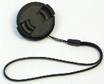 37mm Snap In Front Lens Cap - with Keeper Strap Leash