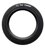 T-Mount T2 Camera Adapter Canon Rebel XS, XSi, XT, XTi, 5D, 10D, 20D, 30D, 40D, 50D, 60D, Mark I, Mark II, Mark III for Telescope Spotting Scope, Macro Bellows, or Lens