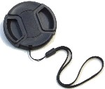 Center Pinch Lens Cap for Nikon AF NIKKOR 24mm f/2.8D Camera Lens with String Leash Strap – Replacement