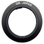 T-Mount T2 Camera Adapter Olympus OM 35mm Film Cameras to for Telescope Spotting Scope, Macro Bellows, or Lens