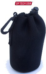 "OP/TECH Snoot Boot Lens Pouch Case Small size 3 1/4""x6"" for Wide Angle, Macro, and Zoom Lenses"