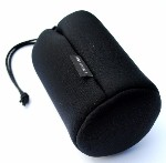 "Large Lens Case Pouch for Telephoto or Zoom Lenses 4 1/4"" x 7"" made of Neoprene"