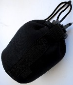 Lens Case Pouch for Telephoto or Wide Angle 4 in x 5 1/2 in made of Neoprene
