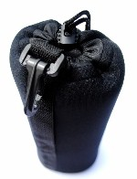 "Extra Large XL Lens Case Pouch for Telephoto or Zoom Lenses 4 1/2"" x 9"" made of Neoprene"
