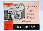 Original Instruction Manual Book for the Graflex Graphic 35 Vintage 35mm Camera