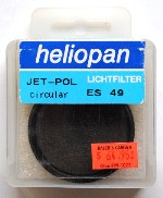 49mm Heliopan Jet-Polarizer Circular Filter