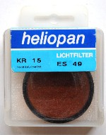 49mm Heliopan KR 15 (85B) Filter