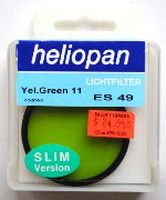 49mm Heliopan Yellow Green 11 Filter