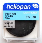 58mm Heliopan SLIM Circular Polarizer Filter