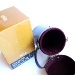 Prinz Hard Brown Leather Snap Camera Lens Case With Attached Strap