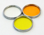 Series V Minicam 32mm Push On Adapter Hood Filter Set UV Orange Yellow In Original Leather Case